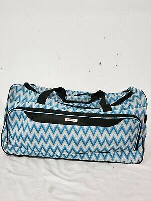 """$120 NEW TAG Travel-Collection Springfield III 25"""" Rolling Duffel Bag Chevron"""