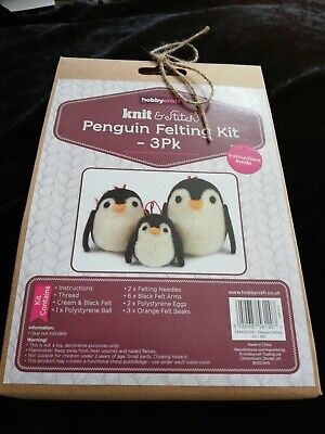Twilleys Knit /& Felt Kit Tablet Cover Penguin 2898//4026 Complete Kit