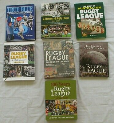 Bulk Lot Of 6 Books On Rugby League History