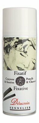 Sennelier Delacroix Pencil and Charcoal Fixative 400 ml Can