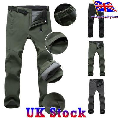 Men Warm Winter Thick Hiking Pant Waterproof Windproof Tactical Outdoor Trousers