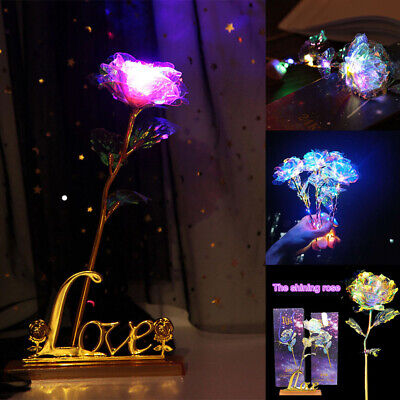 24K Gold Plated Galaxy Rose Valentine's Day Gift To Wife Girlfriend Love Present