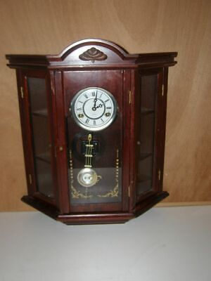"Old wooden wall clock ""Polaris""  pendulum mechanism  ring: 1 hammer and 1 gong"