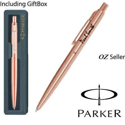 Personalised Engraved Parker Classic Rose Gold Ball Point Pen - Special Edition