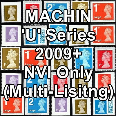 2009+  Machin Definitives U Series NVI Multiple Listing Unmounted Mint