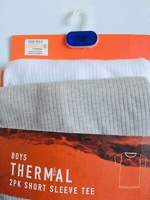 Brand new pack of 2 boys thermal short sleeve t-shirts, age 12-13 years
