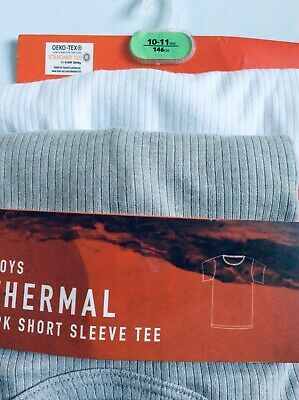 Brand new pack of 2 boys thermal short sleeve t-shirts, age 10-11 years