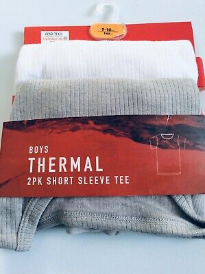 Brand new pack of 2 boys thermal short sleeve t-shirts, age 9-10 years