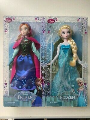 Anna Elsa Disney Store Doll Original First Edition Frozen Disneystore Italy 2013