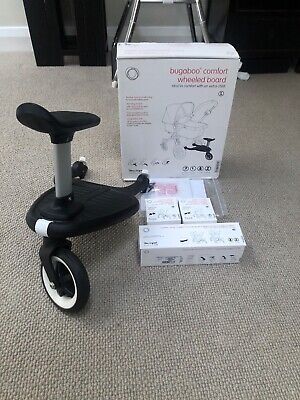 Bugaboo Comfort Wheeled Buggy Board With Seat And 3 Bugaboo Adaptors