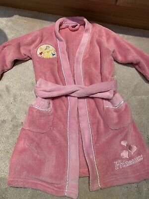 Girls Dressing Pink Soft Gown Robe Disney Princesses Age 5-6 Years Old