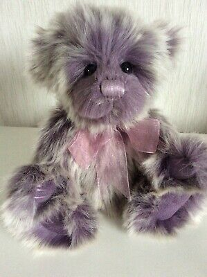"Charlie Bears Sherbet Pip Purple (21.5cm/8.5"") New With Tags"
