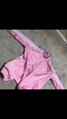 Girls adidas Pink Tracksuit Top, Aged 11 To 12