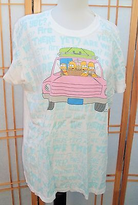 THE SIMPSONS ARE WE THERE YET? 2006 Mighty Fine white Pink Unisex Tee Shirt