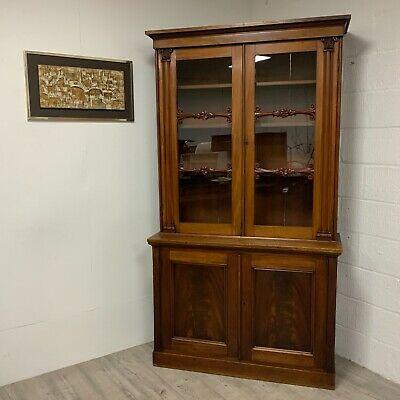 Large Antique Bookcase William IV Kitchen Larder Cupboard