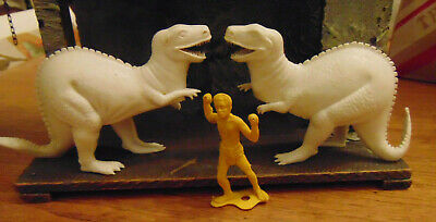Pair of Vintage AJAX Large-Size  T-REX Dinosaurs
