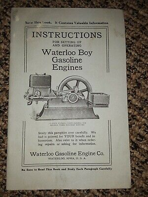 Waterloo Boy Hit Miss Engine Operating Instruction Book / Parts Book