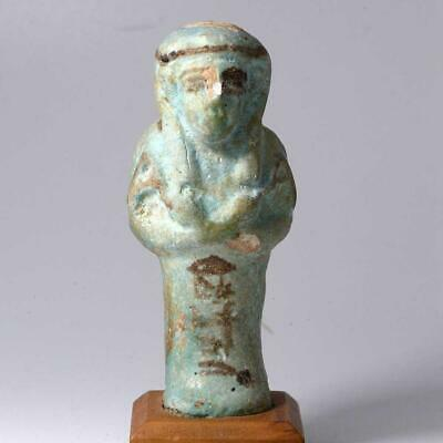An Egyptian Faience Shabti for Imintet, 21st Dynasty ca. 1069-945 BCE