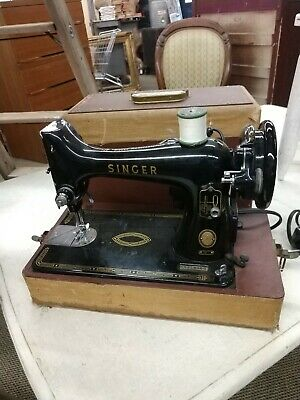 Vintage Singer Model 99 1950's Portable Sewing Machine w/ Foot Pedal runs strong