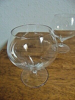 FOUR CRYSTAL BRANDY Glasses  Stemware / Glassware   ROSENTHAL SIGNED GLASS