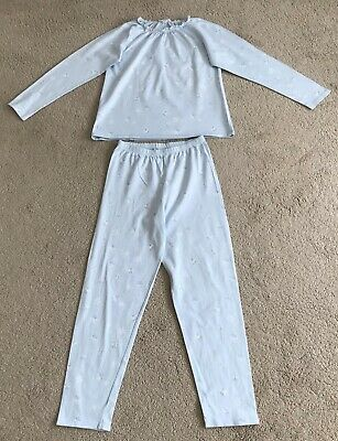 """White Company """" The Little White Company"""" Snowflake Girls Pjs Age 9/10"""
