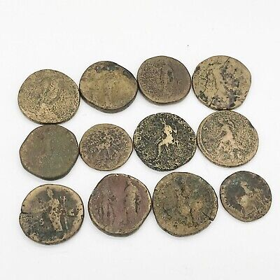 Antique Job Lot Collection Of Old Roman Coins