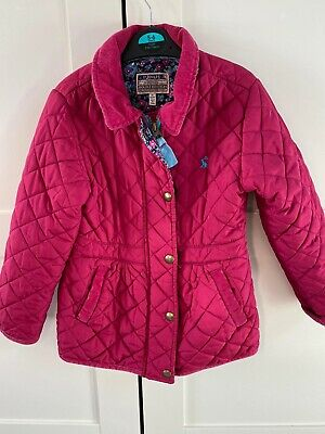 Joules Girls Pink Padded Jacket Size 5-6 Years
