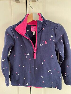 Joules Navy And Metallic Star Kids Girls Jumper Age 4-5 Years