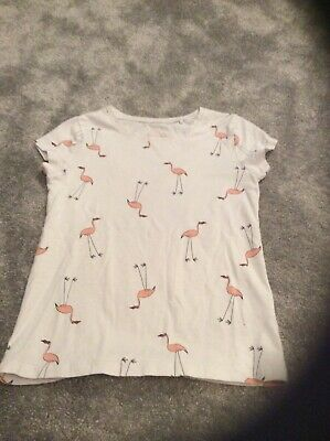 Girls white t shirt with pelicans on front age 8 years Next label