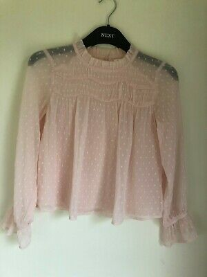Girls Pink Next Soft Petty Long Sleeve Top Age 9 Years Old