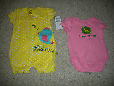 NWT BABY GIRL/'S 9//12 MONTHS JOHN DEERE PONY 3 PIECE SET *HOODIE,PANTS,ONEPIECE*