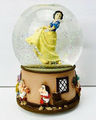 Disney Snow White & Seven Dwarfs Musical Snow Globe plays Waltz of the Flowers