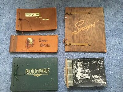 Vintage Photograph Albums Lot Of 5