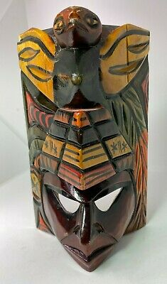 Hand Carved wooden mask Tribal Tiki like