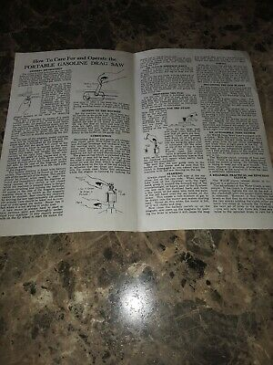 1946 R M  Wade Drag Saw Gas Engine  Instruction/Parts  Manual hit miss
