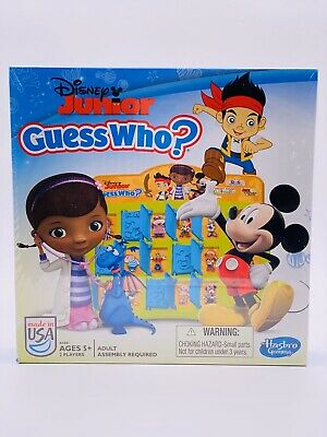 *Collectible* Disney Junior Jr. Guess Who Board Game by Hasbro, 2 Players, 5+