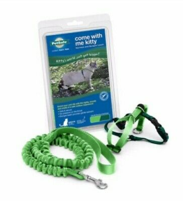 PetSafe® Come with Me Kitty Harness and Bungee Leash(Large, green)