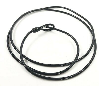 Heavy Duty Plastic Coated Steel Lockout Lock Out Cable Black 10' 10ft 10 Foot