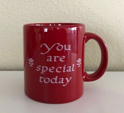 You Are Special Today Red 12oz Mug Made in Germany by Waechtersbach ~ New!