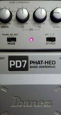 Ibanez PD7 Overdrive Guitar Effect Pedal