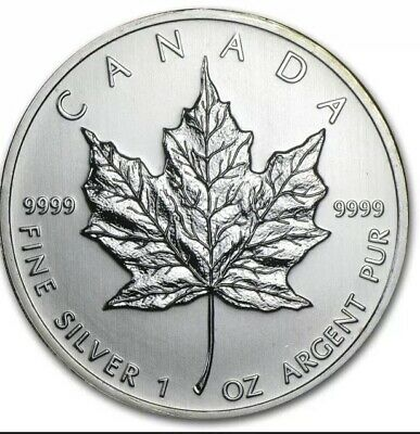 Lot of 10 x 1 oz Random Year Canadian Maple Leaf Silver Coin
