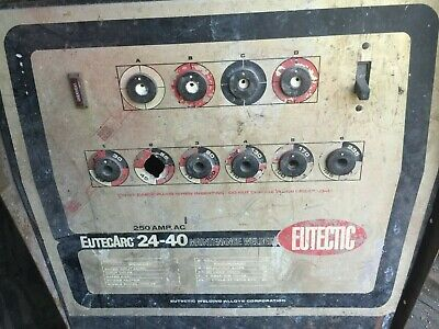 EUTECTIC ARC 250 Amp AC Electric Maintenance   Welder Made in USA