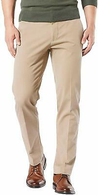 Dockers Mens Safari Beige Size 34X30 Khakis Chinos Stretch Pleat Front $65 144