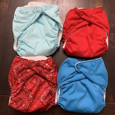 Lot of 4 Mommy's Touch One Size Diapers
