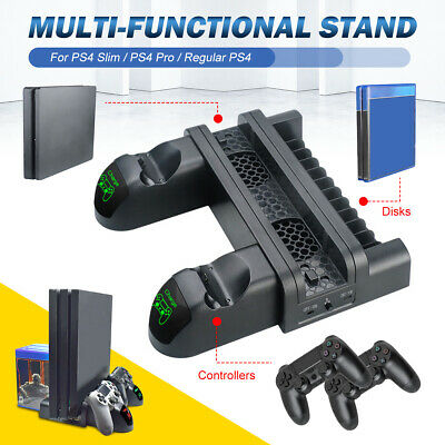 PS4 Slim/Pro Vertical Stand Cooling Dual Controller Charger/USB Charging Dock A