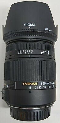 Sigma Zoom 18-250mm f/3.5-6.3 DC Macro OS HSM Lens For Canon EF-S
