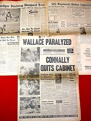 May 1972 George Wallace Paralyzed /Connally Quits Cabinet /Complete Paper,Sports