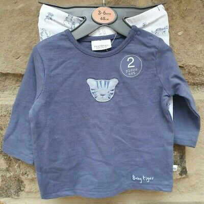 Next Baby Boy 3-6 Months Baby Tiger Top And Trouser Set. Brand New With Tags.