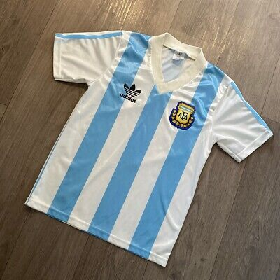 Argentina home Football Shirt Adidas Vintage World Cup Italia 90 1990