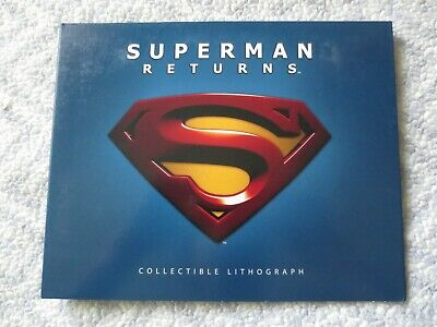 Lithograph Superman Returns Rare Out Of Print Circuit City Collectible